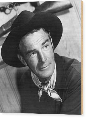 Carson City, Randolph Scott, 1952 Wood Print by Everett