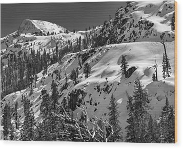 Carson Pass Wood Print by A A