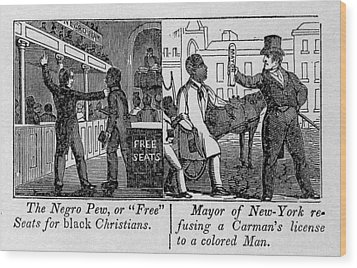 Cartoons Depicting The Racial Wood Print by Everett