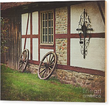 Cartwheels Wood Print by Jutta Maria Pusl