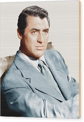 Cary Grant, Ca. Early 1940s Wood Print by Everett