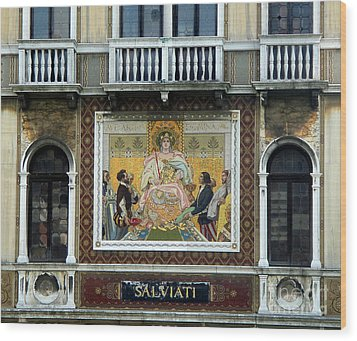 Casa Salviati -  Palace Of The Murano Glassblowers Wood Print by Gregory Dyer