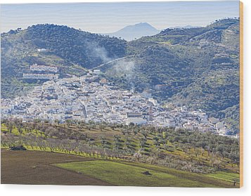 Casabermeja. White Village, Southern Spain. Wood Print by Ken Welsh