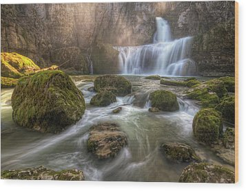 Cascade Of Billaud Wood Print by Philippe Saire - Photography