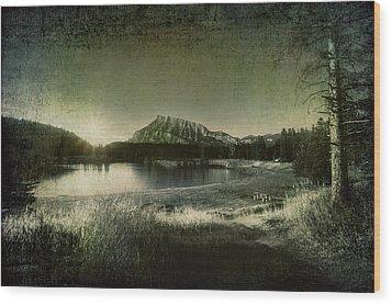 Cascade Pond Banff Wood Print