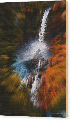 Wood Print featuring the photograph Cascade Waterfall by Mick Anderson