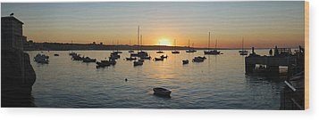 Cascais At Dawn Wood Print