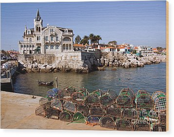 Cascais Bay Wood Print by Carlos Caetano