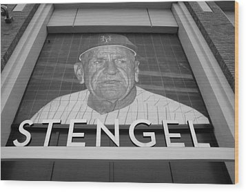 Casey Stengel In Black And White Wood Print by Rob Hans