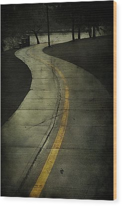 Casledowns Road  Wood Print by Jerry Cordeiro
