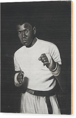 Cassius Clay Wood Print by L Cooper