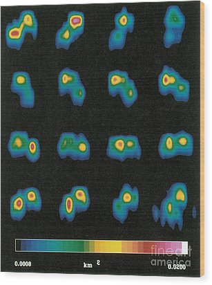 Castalia Asteroid Sequence, False-color Wood Print by Science Source