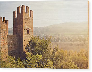 Castell'arquato Wood Print by Just a click