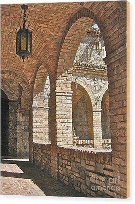 Castello Amorosa Wood Print by Italian Art