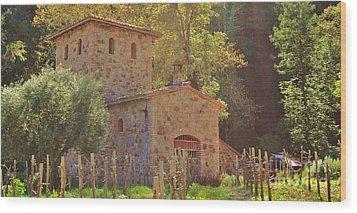 Castillo De Amoroso Farmhouse Napa Valley Wood Print by George Sylvia