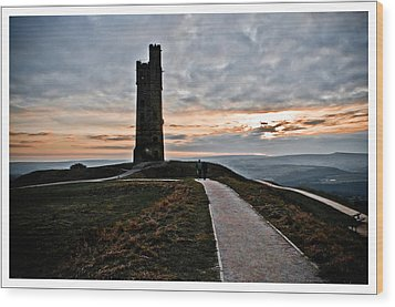Castle Hill Wood Print by Mark Britten