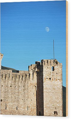 Castle Moon Wood Print by Amee Cave