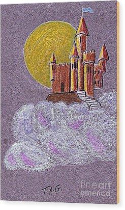Castle Moon Wood Print