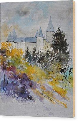 Castle Of Veves Belgium Wood Print by Pol Ledent