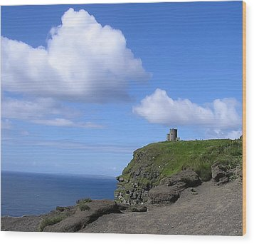 Castle On The Cliffs Of Moher Wood Print by Bill Cannon