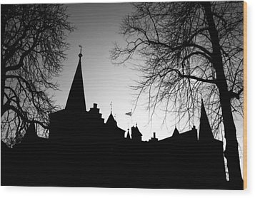Castle Silhouette Wood Print by Semmick Photo