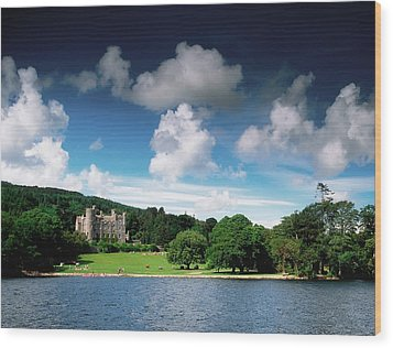 Castlewellan Castle & Lake, Co Down Wood Print by The Irish Image Collection
