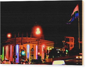 Castro Rainbows Wood Print by Steven I Lanzet