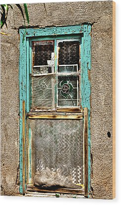Cat In The Window Wood Print by David Patterson