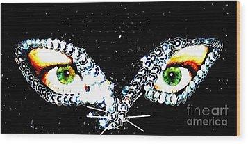 Cat Mask Wood Print by C Lythgo