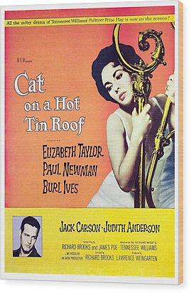 Cat On A Hot Tin Roof, Elizabeth Wood Print by Everett