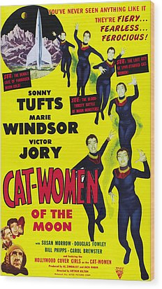 Cat Women Of The Moon, Sonny Tufts Wood Print by Everett