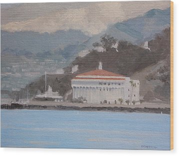 Catalina  Morning Wood Print by Robert Rohrich