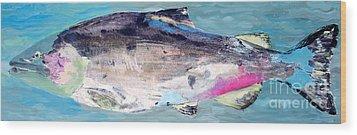 Catch 5 Wood Print by Lisa Baack