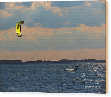 Catch The Wind Wood Print by Rrrose Pix