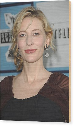 Cate Blanchett At Arrivals Wood Print by Everett