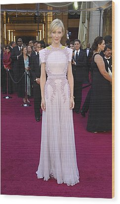 Cate Blanchett  Wearing A Givenchy Wood Print by Everett