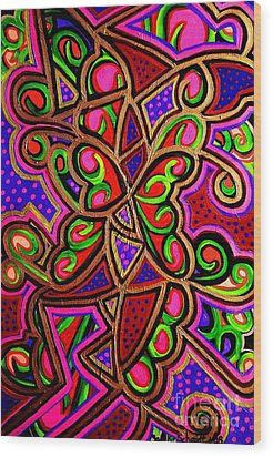 Caterpillars And Butterflys  Wood Print by Brenda Marik-schmidt