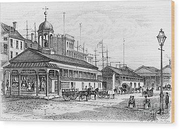 Catharine Market, 1850 Wood Print by Granger