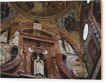 Wood Print featuring the photograph Cathedral Ceiling Detail by Lorraine Devon Wilke