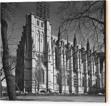 Cathedral Of Saint John The Divine, New Wood Print by Everett