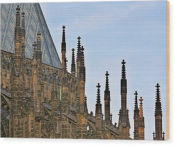 Cathedral Of Ss Vitus - Prague Castle Hradcany - Prague Wood Print by Christine Till