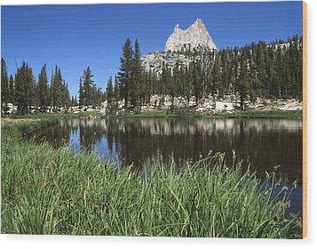 Cathedral Peak Wood Print