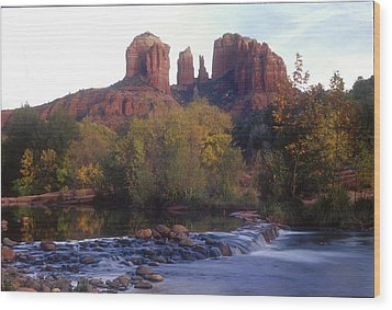 Wood Print featuring the photograph Cathedral Rock by Darleen Stry