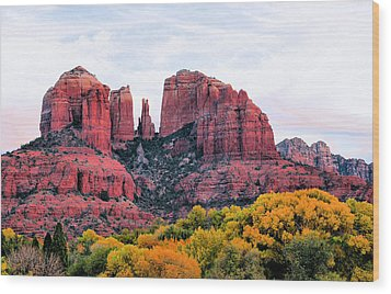 Cathedral Rock Wood Print by Kristin Elmquist