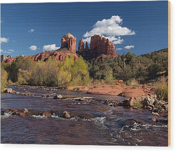 Cathedral Rock Sedona Wood Print by Joshua House