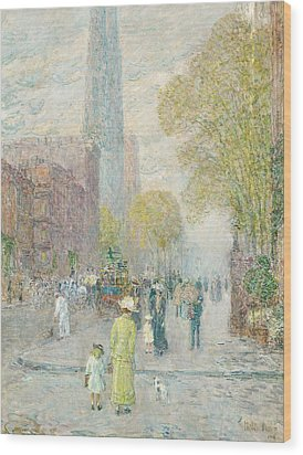 Cathedral Spires Wood Print by Childe Hassam