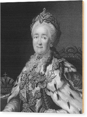 Catherine The Great, Empress Of Russia Wood Print by Middle Temple Library