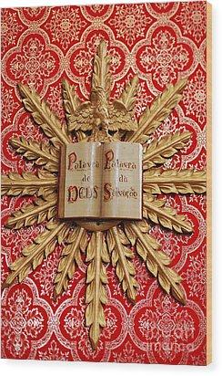 Catholic Church Decorations Wood Print by Gaspar Avila