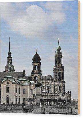 Catholic Church Of The Royal Court - Hofkirche Dresden Wood Print by Christine Till