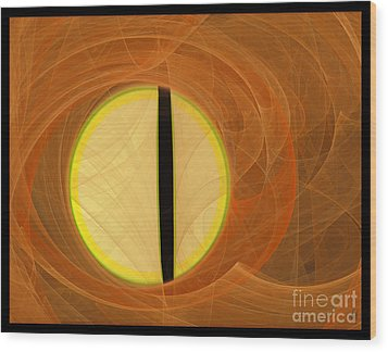 Wood Print featuring the digital art Cat's Eye by Victoria Harrington